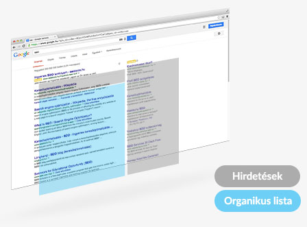 Google organikus lista